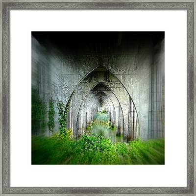 Tunnel Effect Framed Print