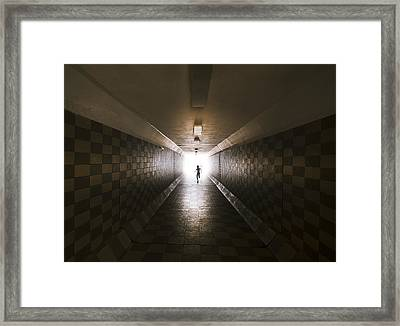 Tunnel Framed Print by Ivan Vukelic
