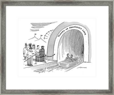 'tunnel Of Brotherly Love' Framed Print by Mick Stevens
