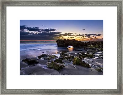 Tunnel Of Light Framed Print by Debra and Dave Vanderlaan