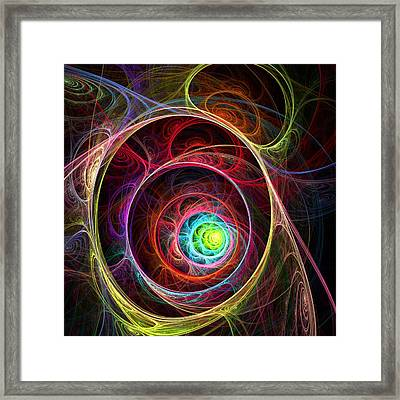 Tunnel Of Lights Framed Print