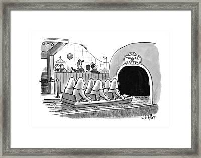 Tunnel Of Safety Framed Print