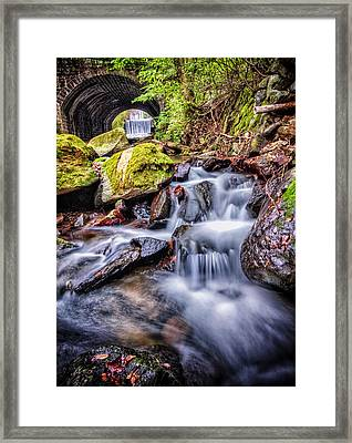 Tunnel Of Water Framed Print by John Swartz