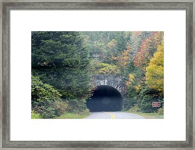 Tunnel On Parkway Framed Print by Melony McAuley