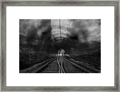 Tunnel People Framed Print by Danica Radman