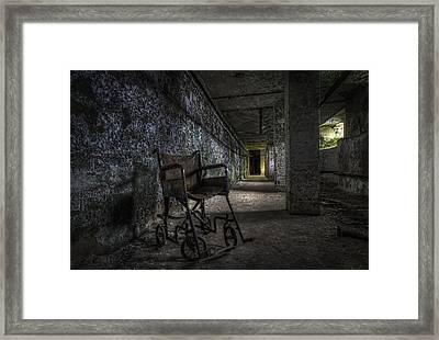 Tunnel Seating Framed Print
