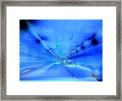 Tunnel Tension Framed Print by Ed Weidman
