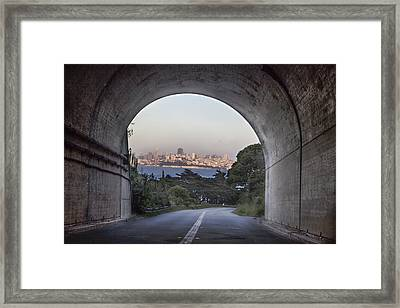 Tunnel To San Fransico Framed Print by John McGraw