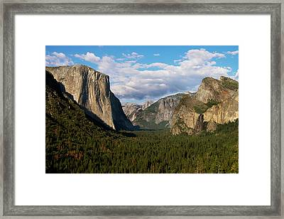 Tunnel View In Yosemite National Park Framed Print by Gina Bringman