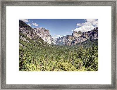 Tunnel View Yosemite Framed Print