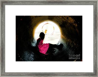 Tunnel Vision Gc Framed Print by Jose Benavides