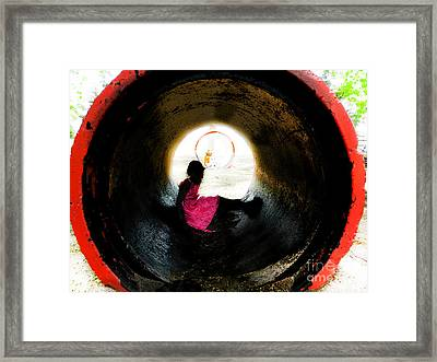 Tunnel Vision Framed Print by Jose Benavides
