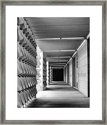 Tunnel Vision Palm Springs City Hall  Framed Print by William Dey