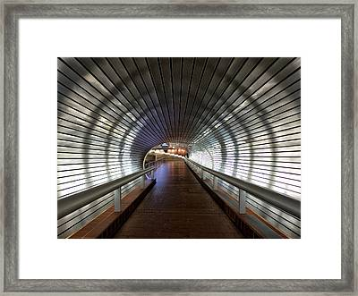 Tunneling In New Haven Framed Print