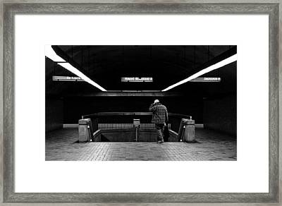 Tunnels - Darker 1 Framed Print by Eric Soucy