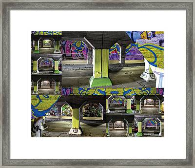 Tunnels Need Support Too Framed Print by Vaughn-Crawford
