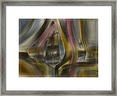 Framed Print featuring the pastel Tunnelscape 2010 by Glenn Bautista