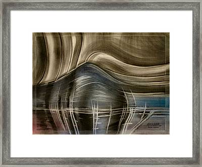 Framed Print featuring the pastel Tunnelscapeb 2010 by Glenn Bautista