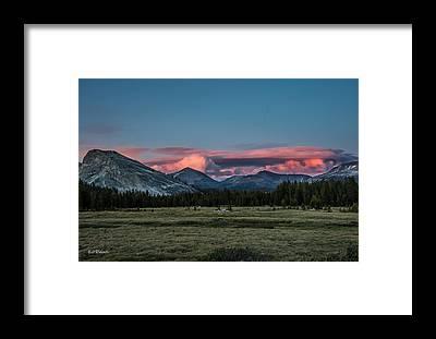 Alpen Glow Framed Prints