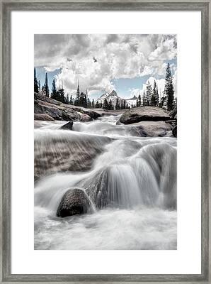 Tuolumne River And Unicorn Peak Framed Print