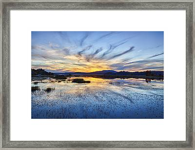 Tupper Lake Sunset Hdr 01 Framed Print