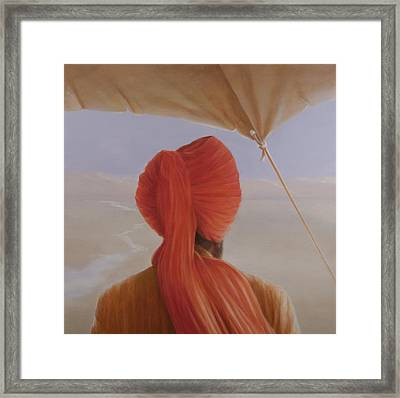 Turbaned Backview With Tenting Framed Print