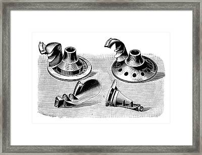 Turbine Parts Framed Print by Science Photo Library