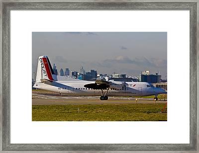 Turboprop Aircraft Framed Print