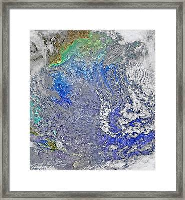 Turbulence In The Atlantic Ocean Framed Print by Science Source