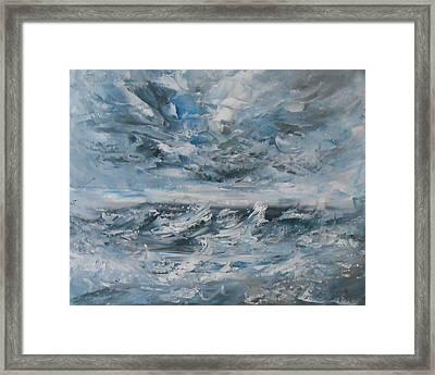 Turbulence Framed Print by Jane  See