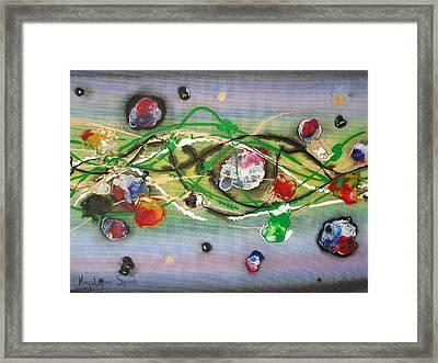 Turbulence Framed Print by Krystyna Spink