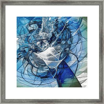 Turbulence Framed Print by Reno Graf von Buckenberg