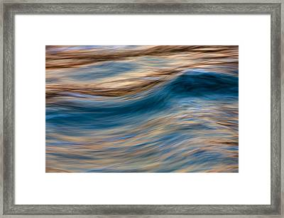 Framed Print featuring the photograph Turbulence Water And Color  73a9760 by David Orias