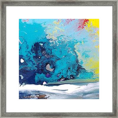 Turbulent 3 Framed Print by Kelly Turner