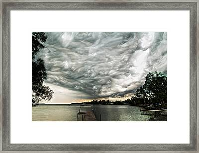 Turbulent Airflow Framed Print