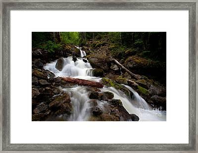 Turbulent Flow Framed Print by Mike Reid