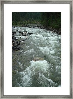 Turbulent Lochsa River Framed Print