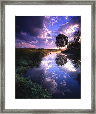 Turbulent Serenity Framed Print by Ray Mathis