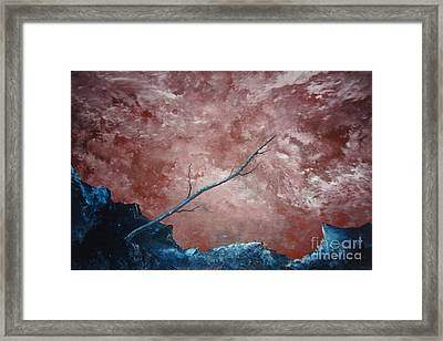 Framed Print featuring the painting Turbulent Stick by Stuart Engel