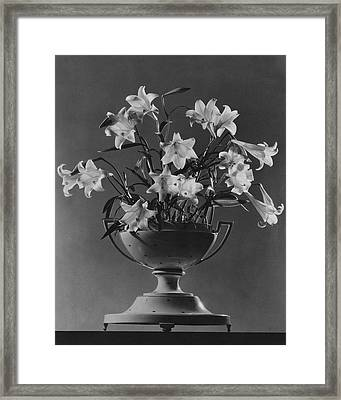 Tureen With Lilies Framed Print