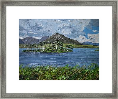 Derryclare Lake Recess Connemara Framed Print