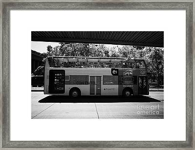 turistik open top city bus tours of Santiago Chile Framed Print by Joe Fox