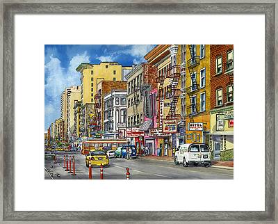 Turk Street San Francisco Framed Print by Karen Wright