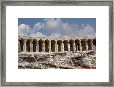 Turkey, Aspendos Framed Print