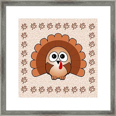Turkey - Birds - Art For Kids Framed Print by Anastasiya Malakhova