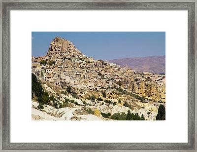 Turkey, Cappadocia, Ortahisar Framed Print