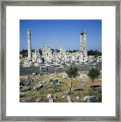 Turkey. Didyma. Temple Of Apollo Framed Print