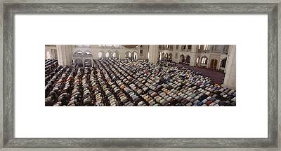 Turkey, Edirne, Friday Noon Prayer Framed Print by Panoramic Images