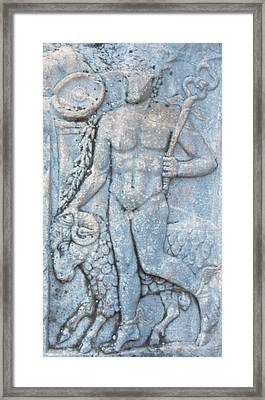 Turkey, Ephesus A Roman Carving Depicts Framed Print by Jaynes Gallery