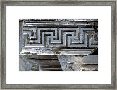 Turkey, Ephesus Classical Greek Key Framed Print
